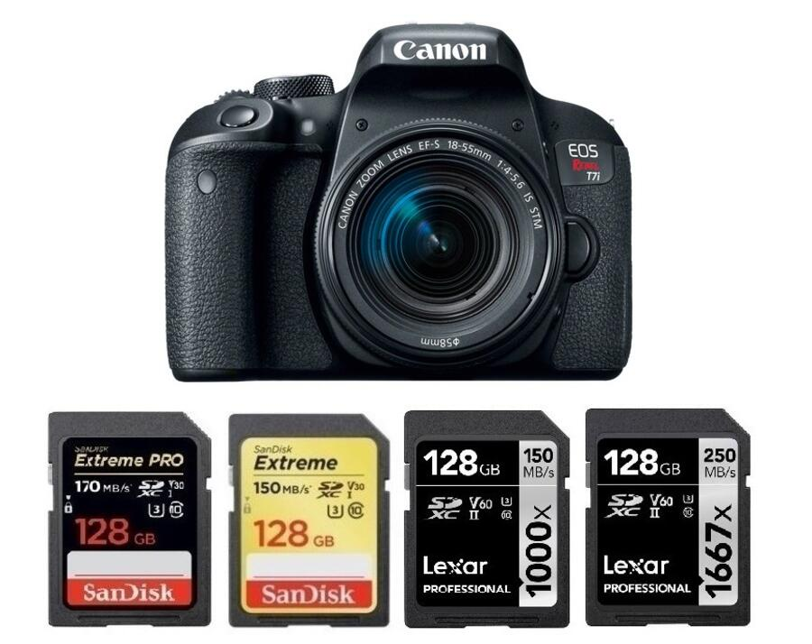 Best Memory Cards for Canon EOS Rebel T7i