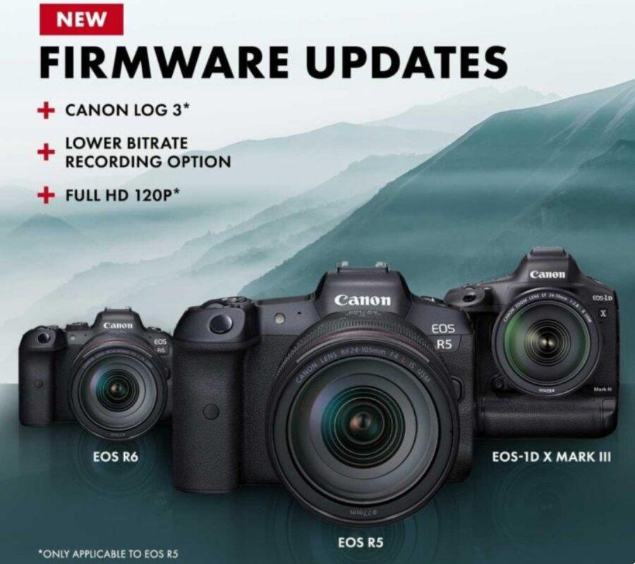 New Firmware Updates : Canon EOS R5, R6, 1D X Mark III, RF 70-200 f/2.8L & RF 100-500 f/4.5-7.1L
